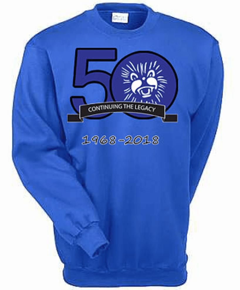 50th anniversary crew neck